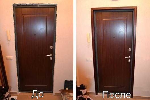 Установка добора на входную дверь